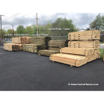 West Virginia Lap Rail Posts - Treated (W-POST-LR-T)