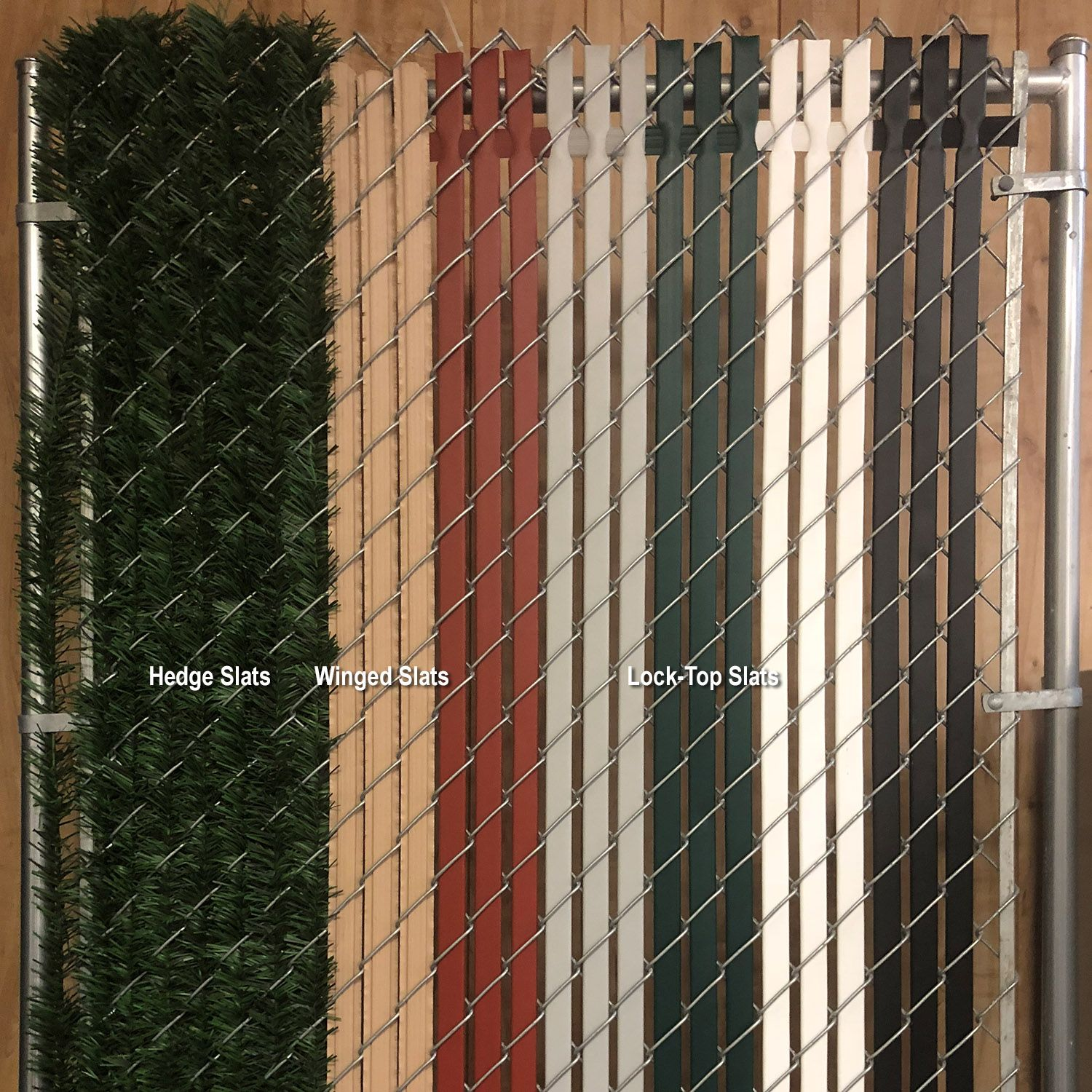 Pvc Privacy Slats For Chain Link Fences Lock Top Style Hoover Fence