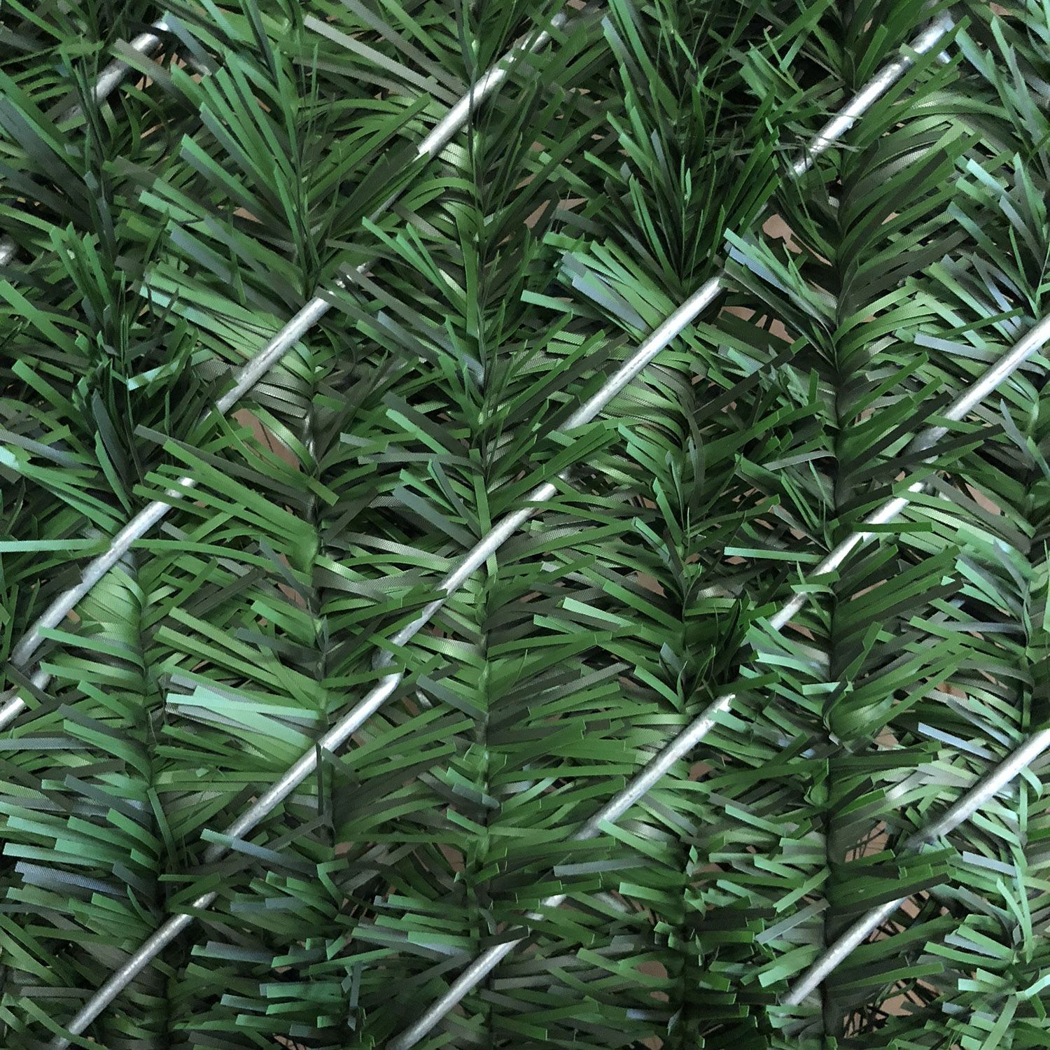 Privacy Slats for Chain Link Fences - Hedge Style