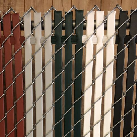 PVC Privacy Slats for Chain Link Fences - Lock-Top Style