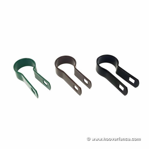 Chain Link Fence Tension Bands - Black, Brown, and Green