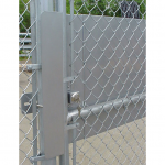 DAC Industries Gate Latch Protector Installed