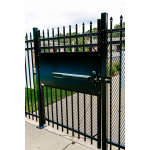 D-6035 DAC Industries Standard Exit Bar Kit Installed on Metal Fence