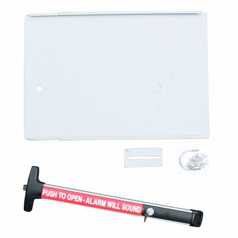 DAC Industries Standard Exit Bar Kit for Gates - Plate, D-6006 Bar with Alarm (No Lock Box)