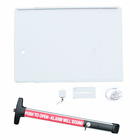 DAC Industries Superior Exit Bar Kit for Gates - Plate, D-6006 Bar with Alarm and Lock Box