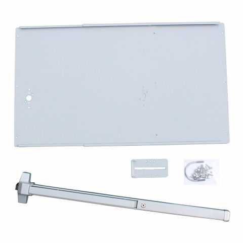 DAC Industries Standard Exit Bar Kit for Gates - Plate, Economy Bar (No Lock Box)
