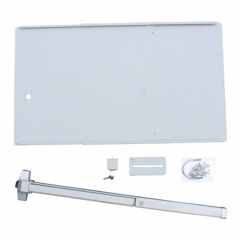 DAC Industries Deluxe Exit Bar Kit for Gates - Plate, Economy Bar with Lock Box