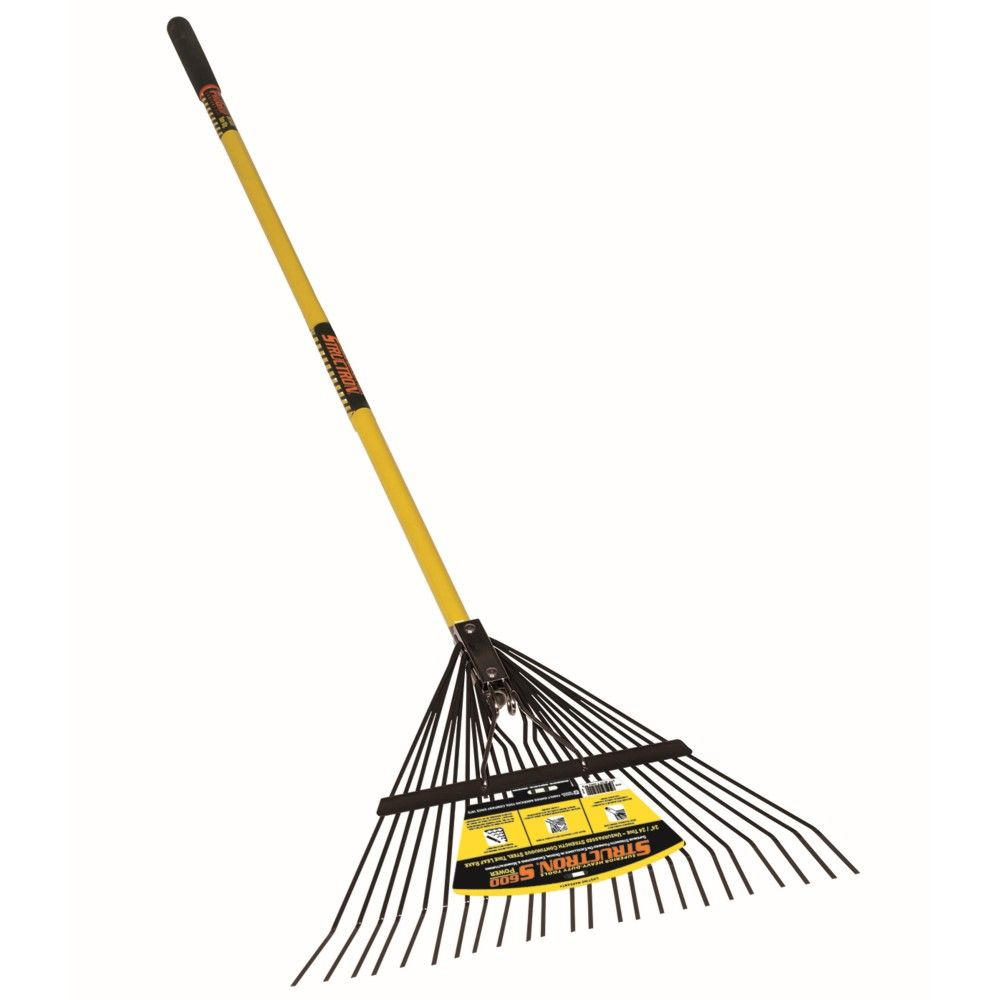 Seymour Structron S600 Power Steel Tine Leaf Rake, Metal with Spring Brace