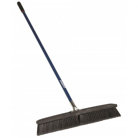 "Seymour Structron S400 Jobsite Push Broom, 24"" Medium Bristle for Rough Surfaces"
