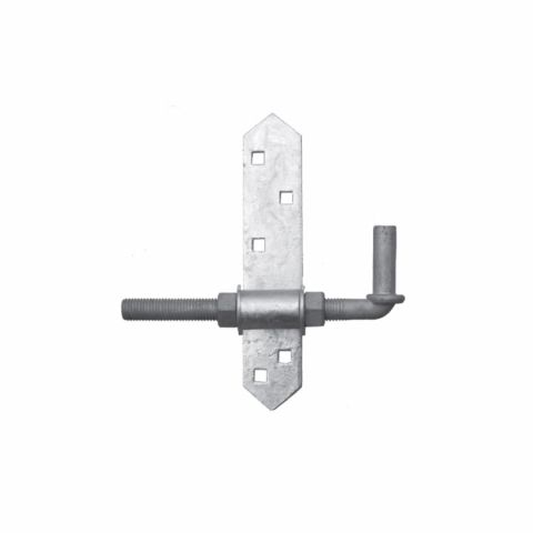 "Snug Cottage Hardware Mounting Plates with 8"" Adjustable Pins for Wood Gates, Each"