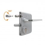 Locinox LAKQU2 Industrial Gate Lock - Adjusting Handing