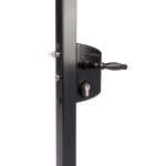 Locinox LAKQU2 Industrial Gate Lock - Black Finish with 3006FA Ornamental Handles