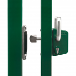 Locinox LSKZU2 Sliding Gate Lock and SSKZ-QF - Open Position