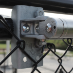 Locinox Samson-2 SB Mounting Brackets for Chain Link Applications - Installed on Gate