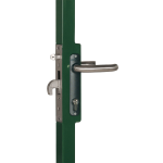 Locinox H-METAL-WB Hybrid Lock for Weld Box Installed on Gate Frame