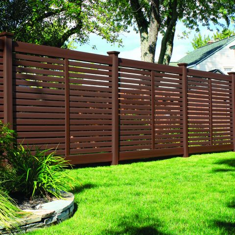 Bufftech Breezewood Select Cedar Vinyl Fence Sections