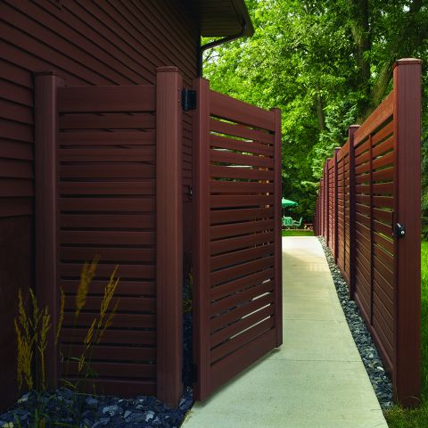 Bufftech Breezewood Select Cedar Vinyl Gates