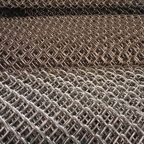 "9 Gauge x 1"" Chain Link Fence Fabric, Aluminum"