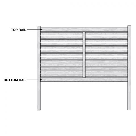 Bufftech Breezewood Select Cedar Vinyl Fence - Replacement Rails