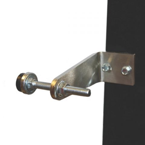 Lockey USA Adjustable 90 Degree Stainless Steel Gate Stop for Fence Posts