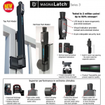 D&D Technologies Magna-Latch Vertical Pull Series 3, Magnetic Child-Proof Latch (ML3VPKA)