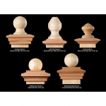 Nantucket Post Cap Finials for Wood Posts