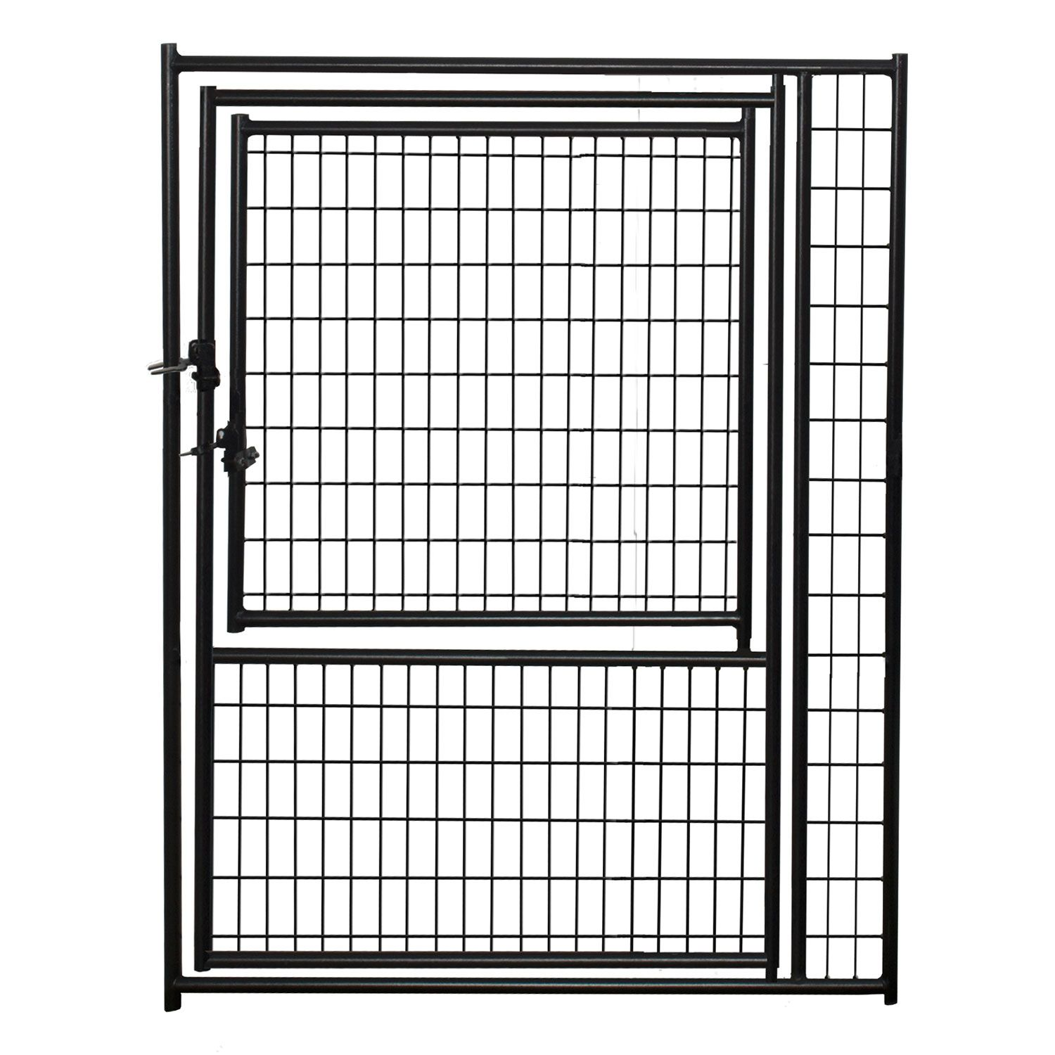 Jewett-Cameron Lucky Dog Black Welded Wire Kennel Panels with Gate in Gate