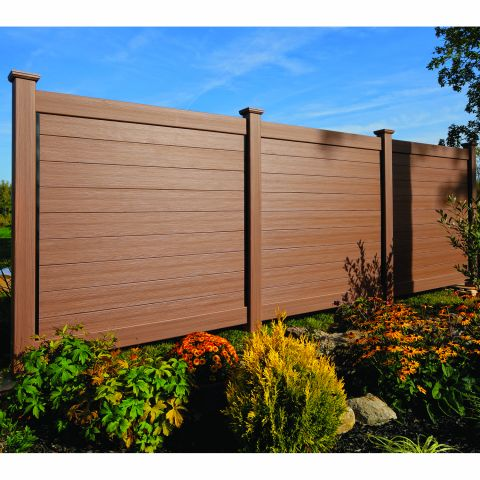 Bufftech Brookline CertaGrain Vinyl Fence Sections