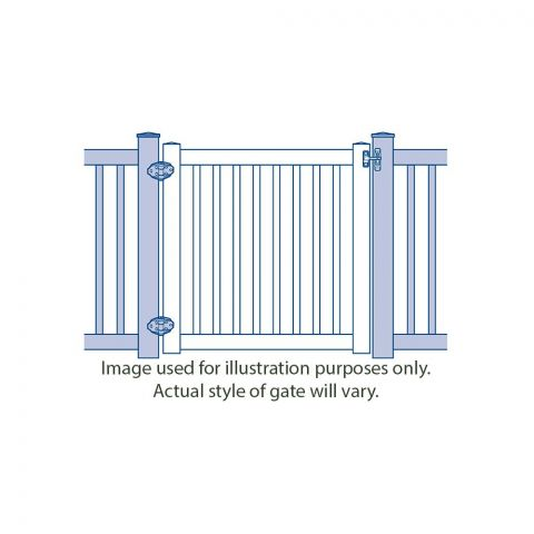 Bufftech Brookline Vinyl Gates