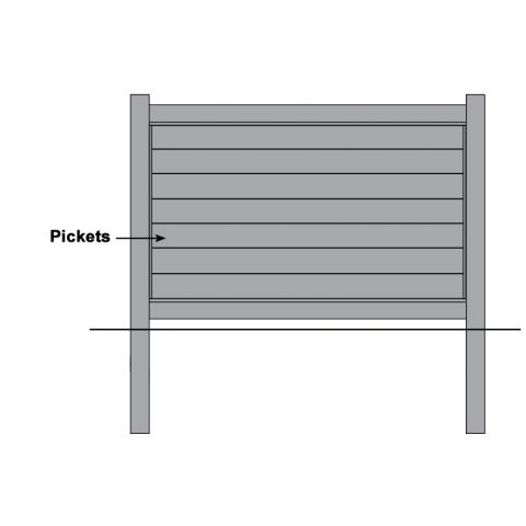 Bufftech Brookline Vinyl Fence - Replacement Pickets