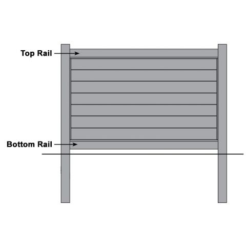 Bufftech Brookline Vinyl Fence - Replacement Rails