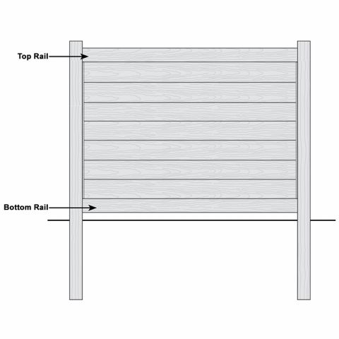 Bufftech Brookline CertaGrain Vinyl Fence - Replacement Rails