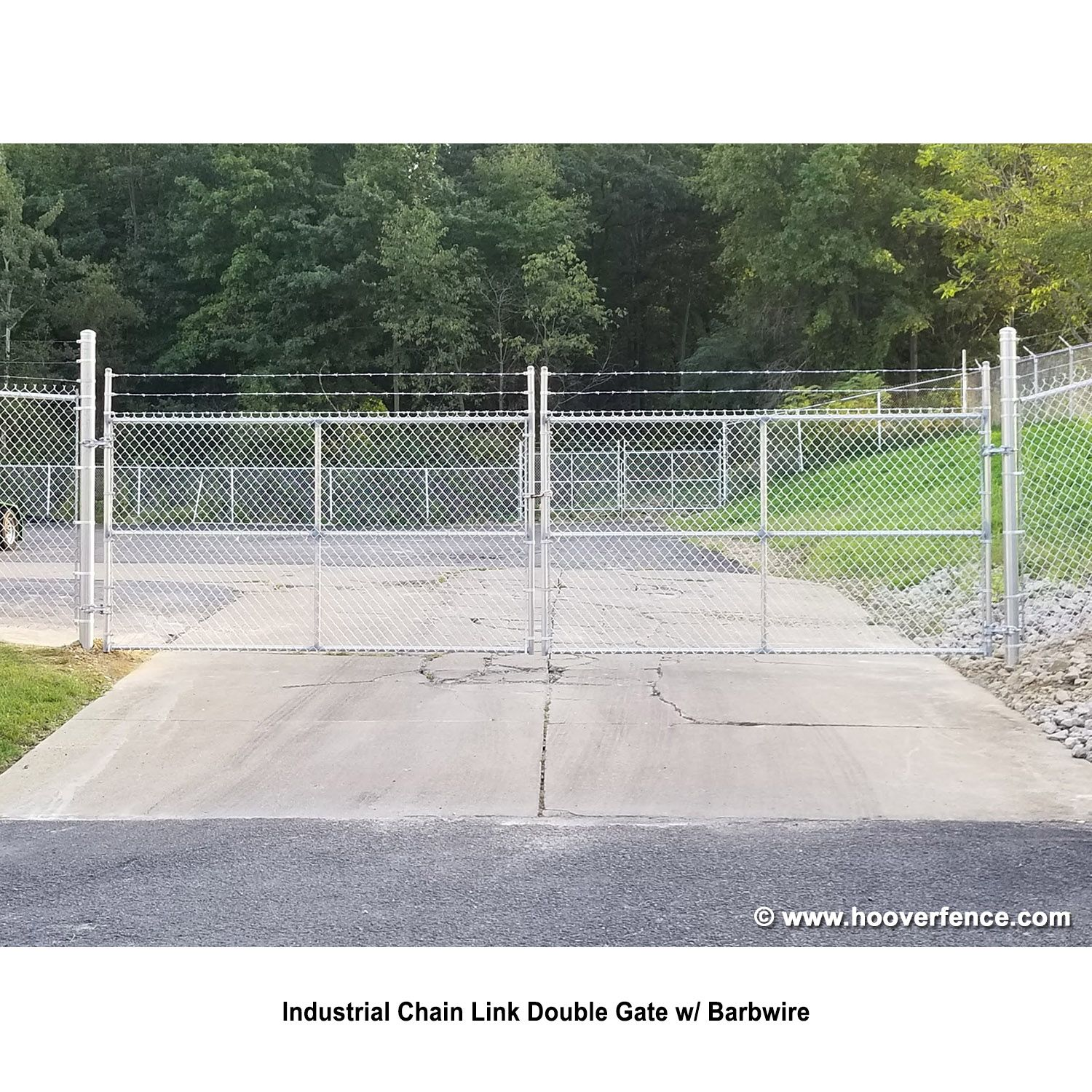 Hoover Fence Industrial Chain Link Fence Single Gates All