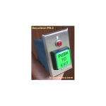 Securitron Lighted Momentary Single Push Button, Gang Mounted (PB-2)