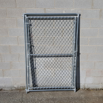 Hoover Fence Chain Link Kennel Panels w/ Gates - Heavy Grade