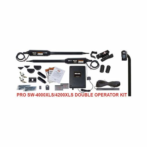 Linear PRO-SW4002XLS Automatic Gate Opener Kit for Double Swing Gates (2000 lb capacity)