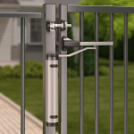 Locinox Verticlose-2 Installed on 180° Swing Gate - Lifestyle