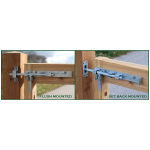 Snug Cottage Hardware Heavy Duty Cane/Drop Bolts for Wood Gates (5000-P)