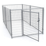 Jewett Cameron Lucky Dog Silver Welded Wire Kennel Kit - 4'H x 5'W x 10'L (CL-54150)