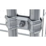 Silver Lucky Dog Kennel Panel Clamp Detail