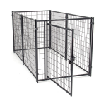 Jewett Cameron Lucky Dog Black Welded Wire Kennel Panel Enclosure Kits