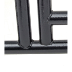Black Lucky Dog Kennel Hinge Detail - Bottom