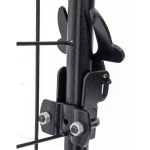 Black Lucky Dog Kennel Latch Detail - Latch Open