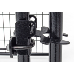Black Lucky Dog Kennel Latch Detail - Latch Closed