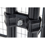 Black Lucky Dog Kennel Panel Clamp Detail