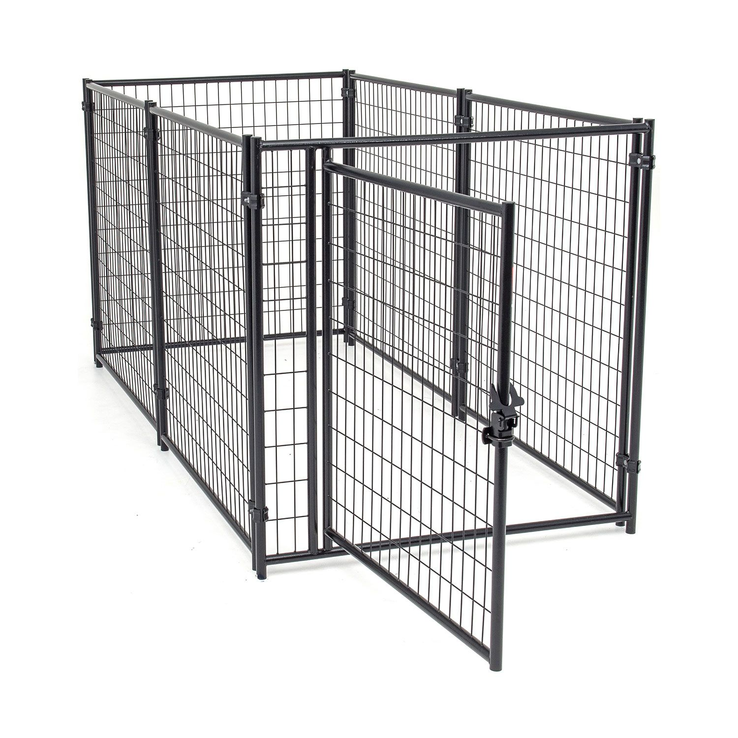 Jewett-Cameron Lucky Dog Black Welded Wire Kennel Panel Enclosure Kits