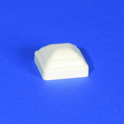 LMT Beveled Picket Cap - 1-1/2x1-1/2 - White