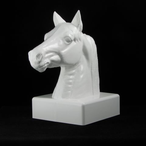 LMT Stallion Head Post Cap - 5x5 - White