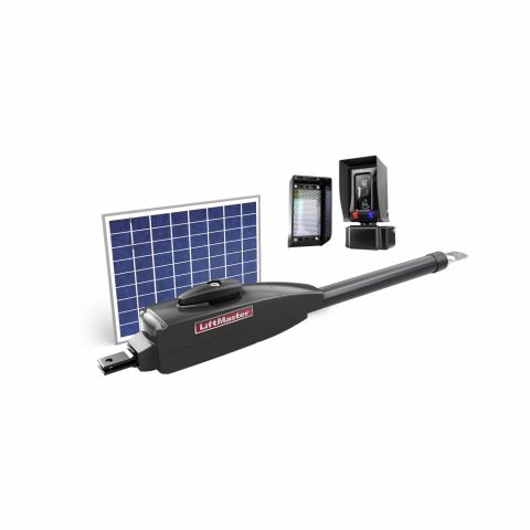 LiftMaster Solar Powered Single Swing Gate Operator Kit - Includes LA412UL and LMRRUL Photoeyes