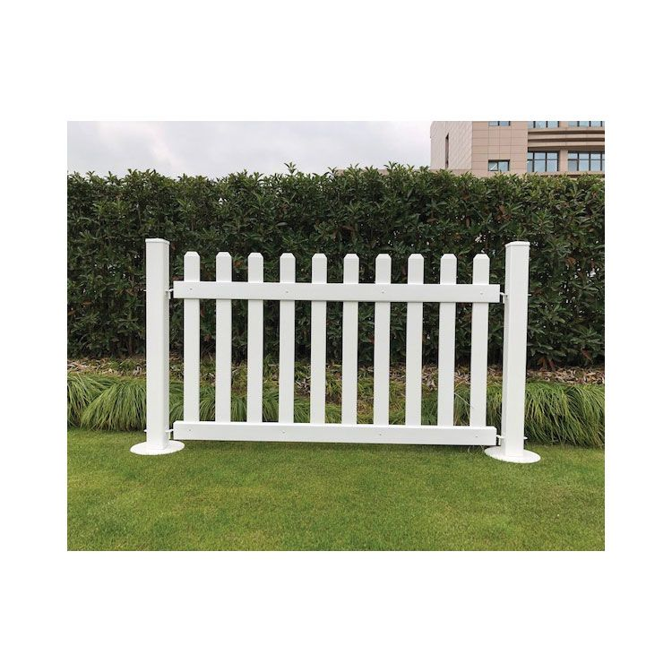 Picket Style Vinyl Pvc Portable Temporary Event Fence Panel With Free Stand Post Base Feet White Free Standing Picket Fence Buy Temporary Event Fence Vinyl Pvc Portable Temporary Event Fence Panel Picket Style